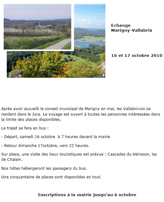 Echange Marigny-Vallabrix