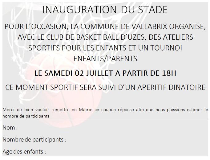 inauguration stade
