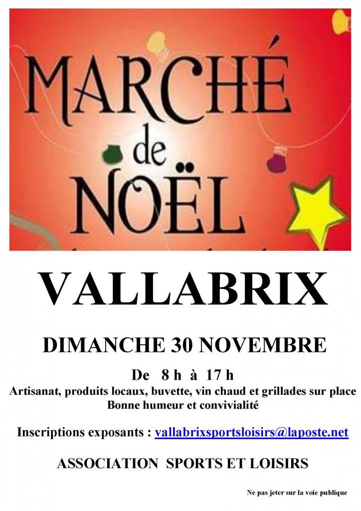 Affiche Marché de Noel 2014